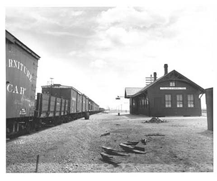 Buford's rail station, ca. 1901. From the J.E. Stimson Collection,Wyoming State Archives, Department of State Parks and Cultural Resources.