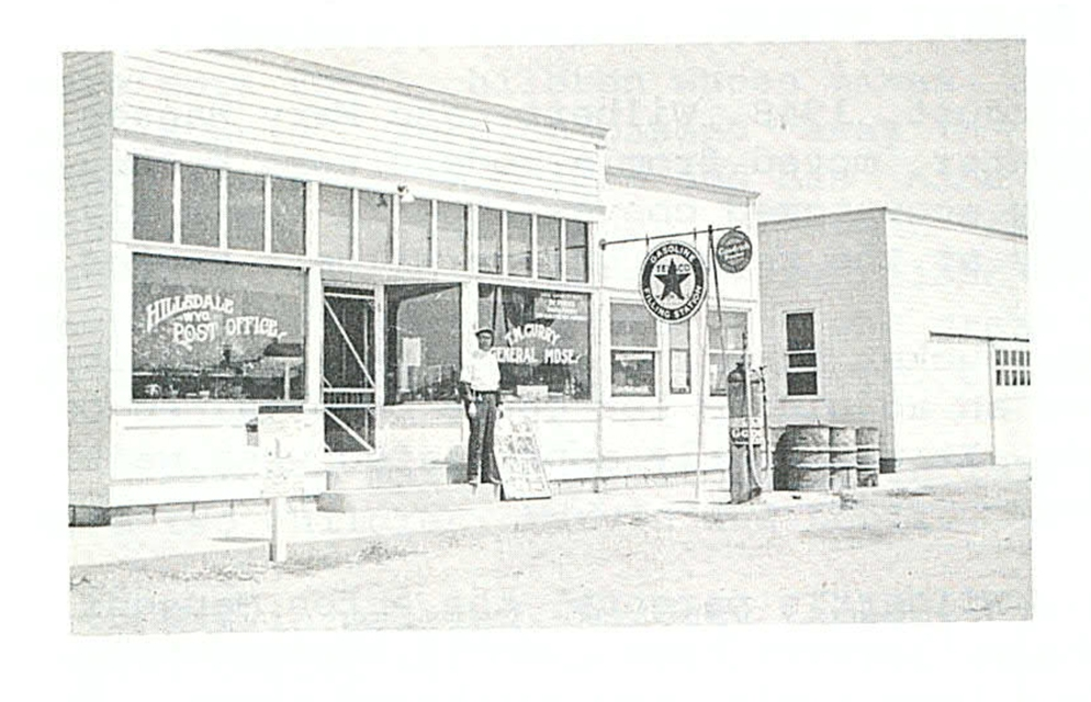The Hillsdale Post Office, ca. 1920