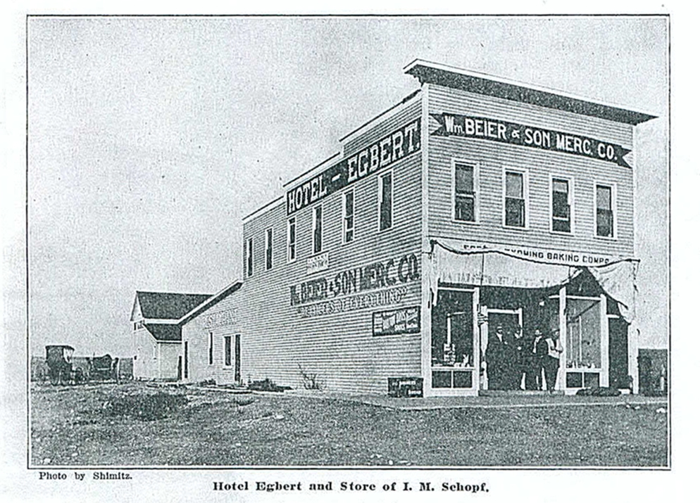 The Hotel Egbert, built in 1908, also had a dance hall. Photograph originally published in the Cheyenne Trade Journal, ca. 1910, Wyoming State Archives, Department of State Parks and Cultural Resources.