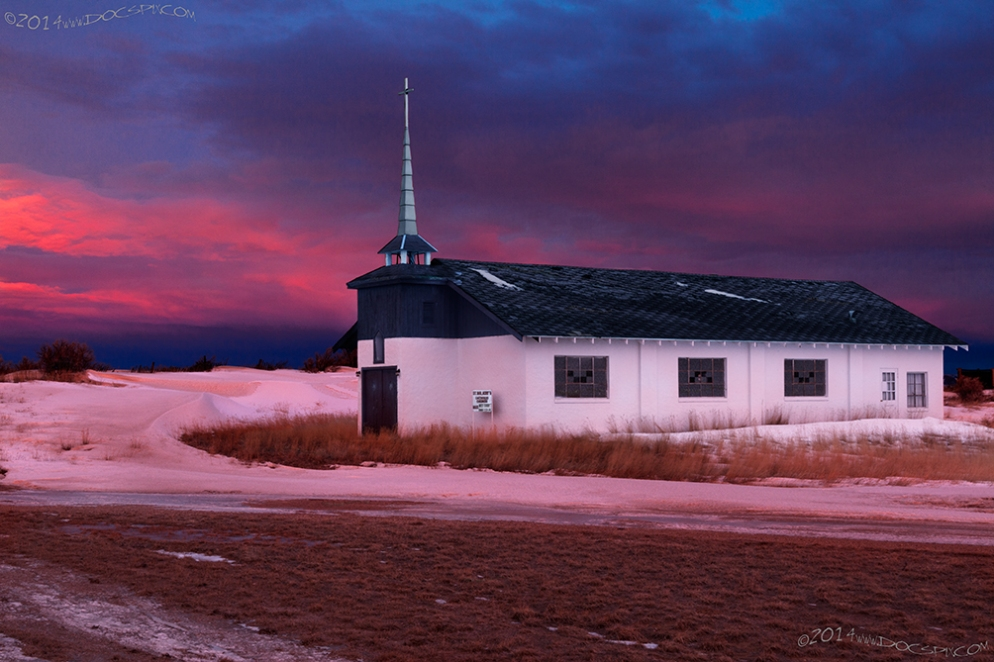 St. Malachy's Catholic Church faces the start of another day in Medicine Bow.