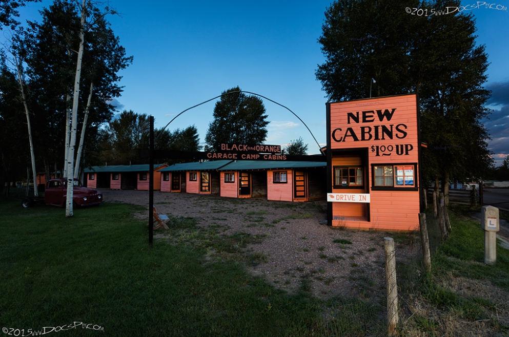 The Black and Orange Motel was restored in 2009. Today they are a part of the historic Ft. Bridger site.